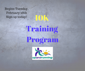 Sign up for our 9 week 10K training program!